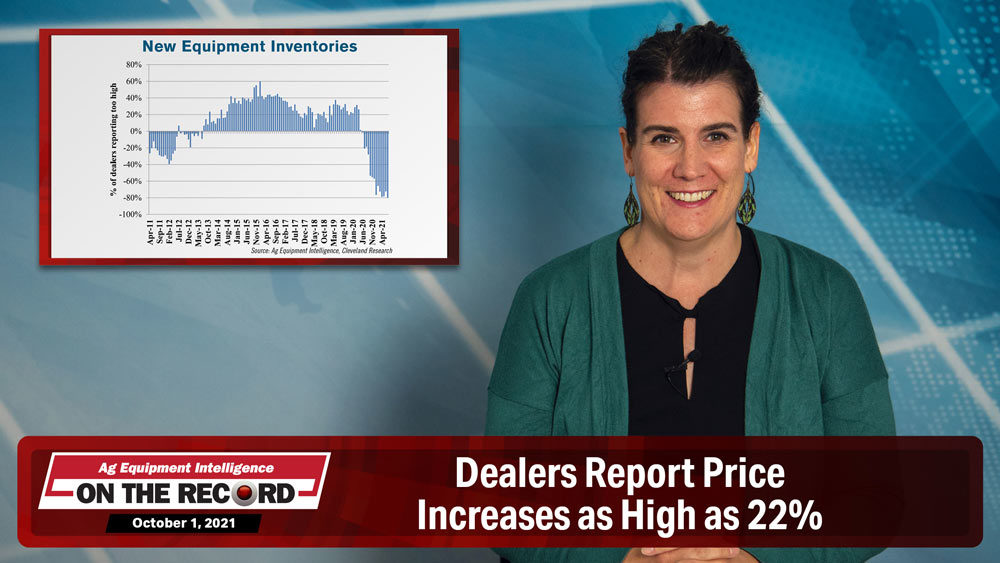 Dealers Report Price Increases as High as 22%
