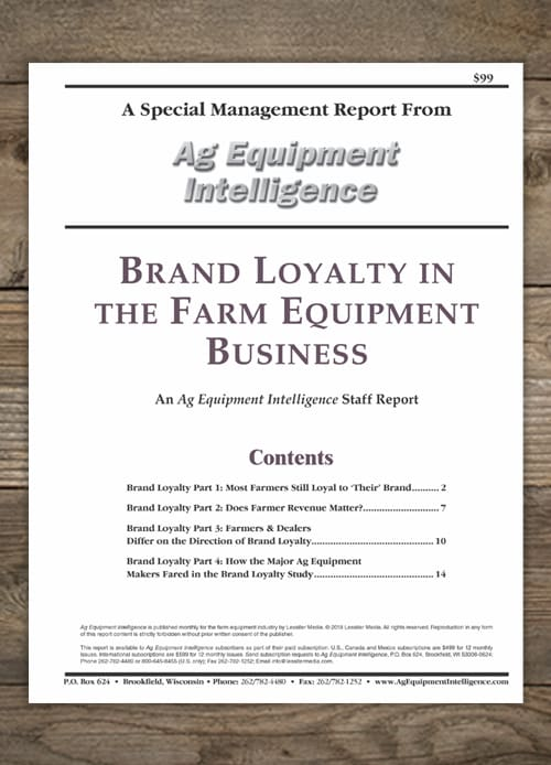 Brand Loyalty In The Farm Equipment Business 2018