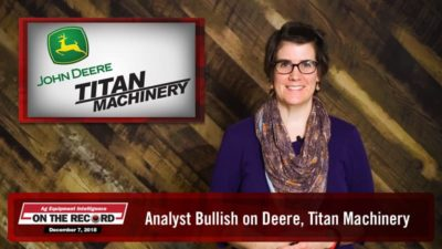 Analyst Bullish on Deere, Titan Machinery