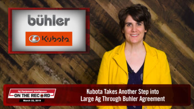 Kubota Takes Another Step into Large Ag Through Buhler Agreement