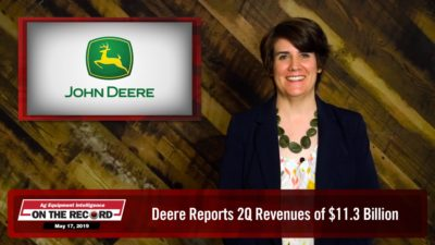 Deere Reports 2Q Revenues of $11.3 Billion