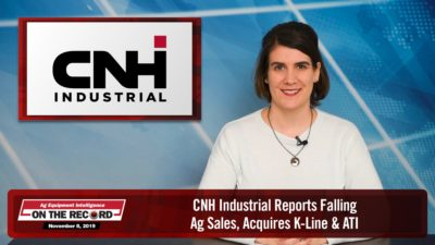 CNH Industrial Reports Falling Ag Sales, Acquires K-Line & ATI
