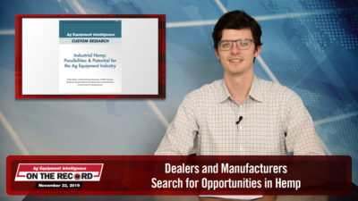 Dealers and Manufacturers Search for Opportunities in Hemp