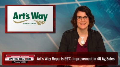 Art's Way Reports 59% Improvement in 4Q Ag Sales