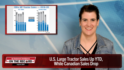 U.S. Large Tractor Sales Up YTD, While Canadian Sales Drop