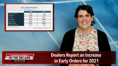 Dealers Report an Increase in Early Orders for 2021