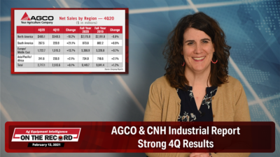 AGCO & CNH Industrial Report Strong 4Q Results