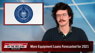 More Equipment Loans Forecasted for 2021