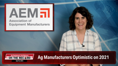 Ag Manufacturers Optimistic on 2021