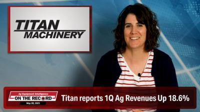Titan reports 1Q Ag Revenues Up 18.6%