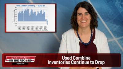 Used Combine Inventories Continue to Drop