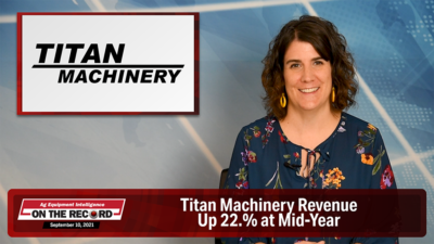 Titan Machinery Revenue Up 22.% at Mid-Year